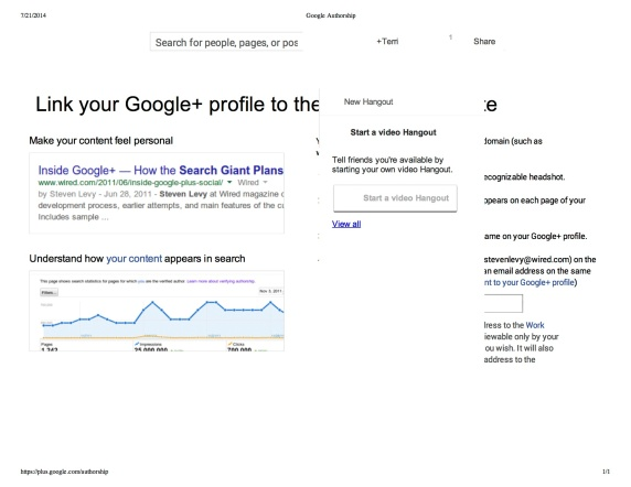 "Preview of ""Google Authorship"""
